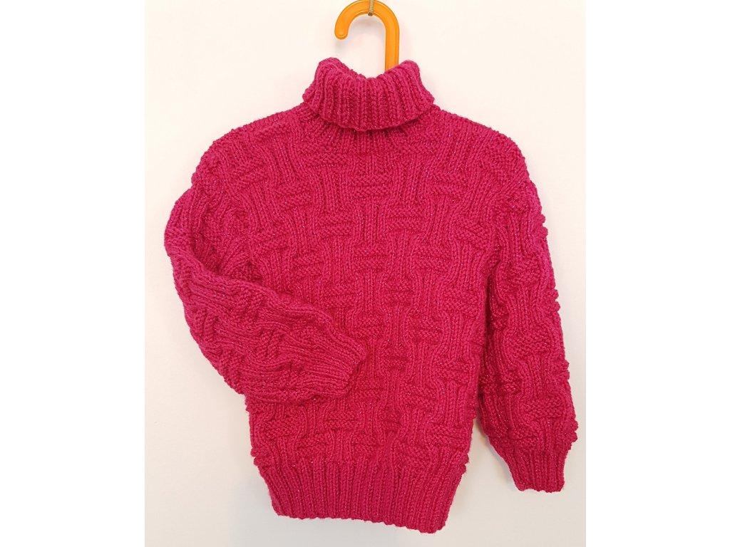 Dětský svetr růžový rolák - Kvalitní voda znamená pohodlí a zdraví ccbcafa11b