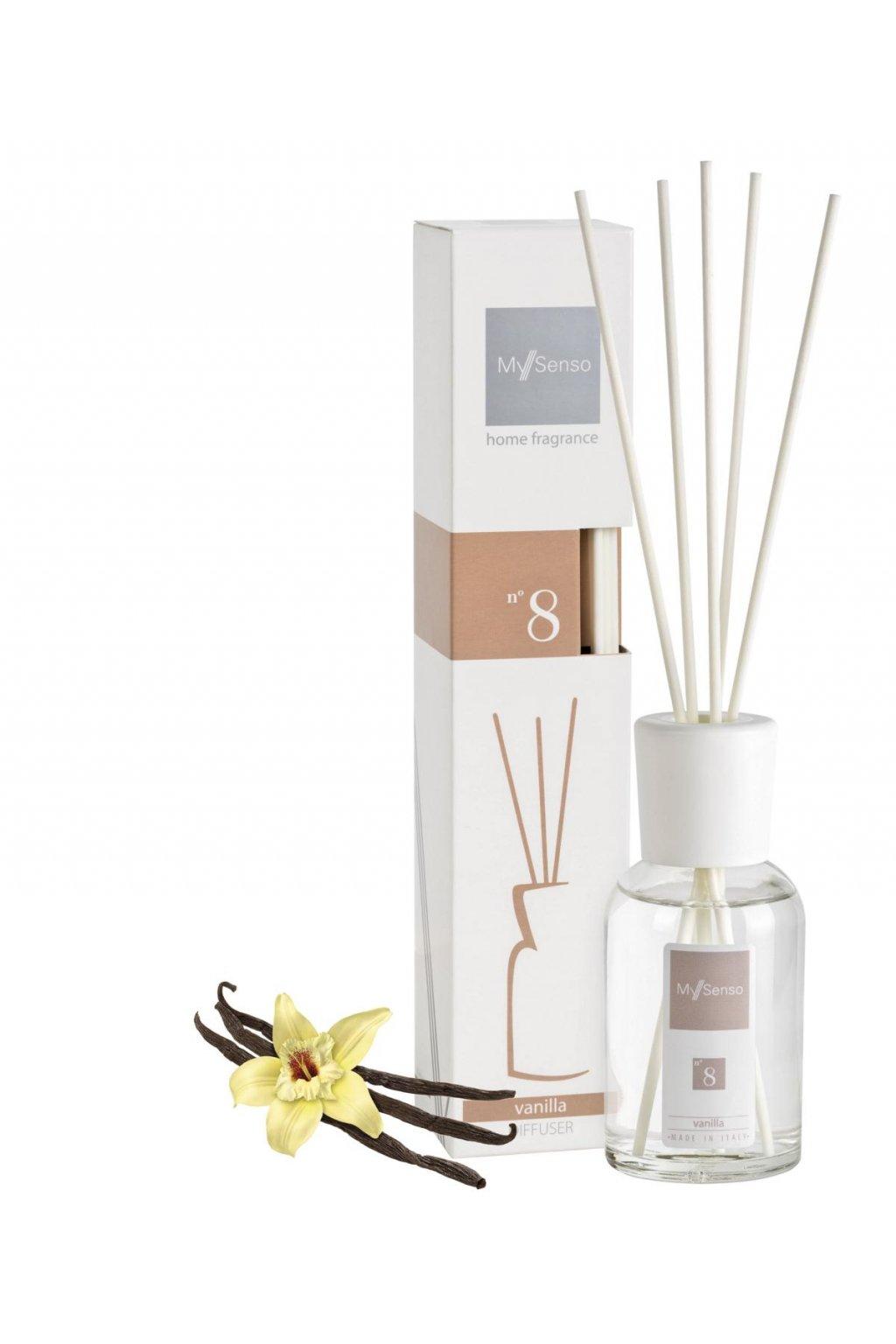 78 my senso aromaticky difuzer midi 100ml n 8 vanilla vanilka