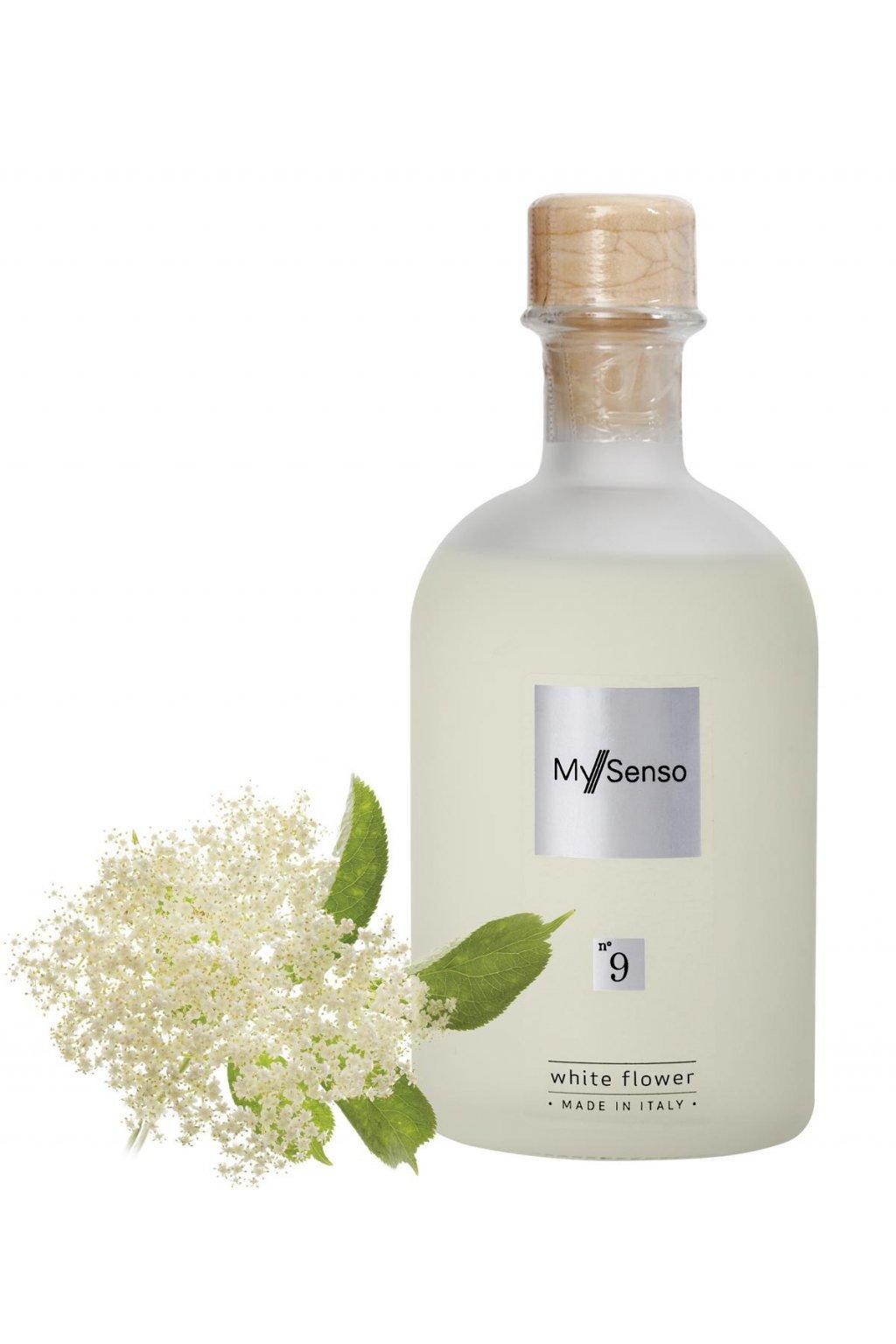 165 my senso nahradni napln pro aromaticky difuzer n 9 white flower cerny bez 240ml