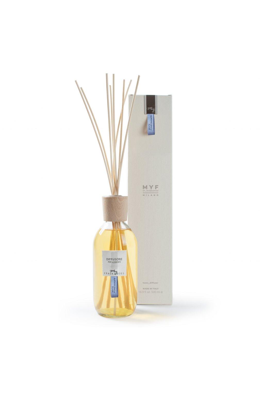 483 myf classic aroma difuzer white pomegranate pomeranc granatove jablko a jasmin 500ml