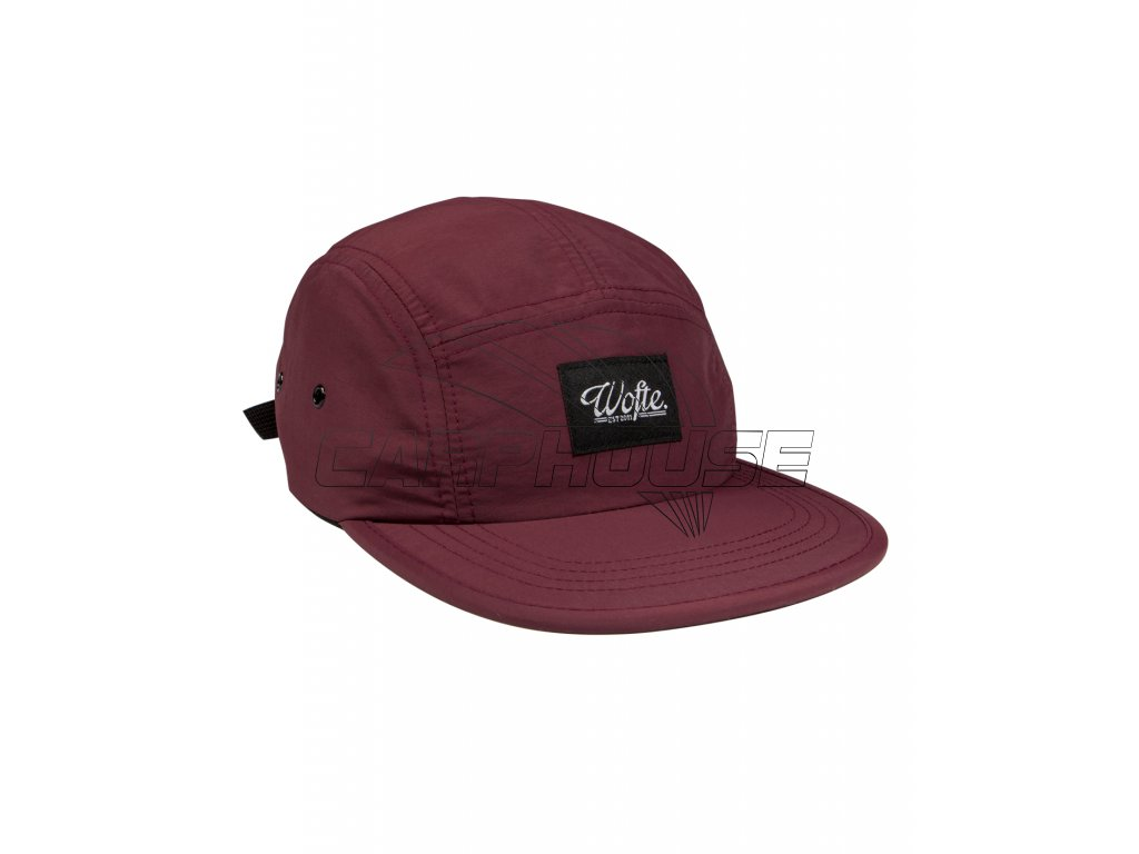 MAROON NYLON 5 PANEL