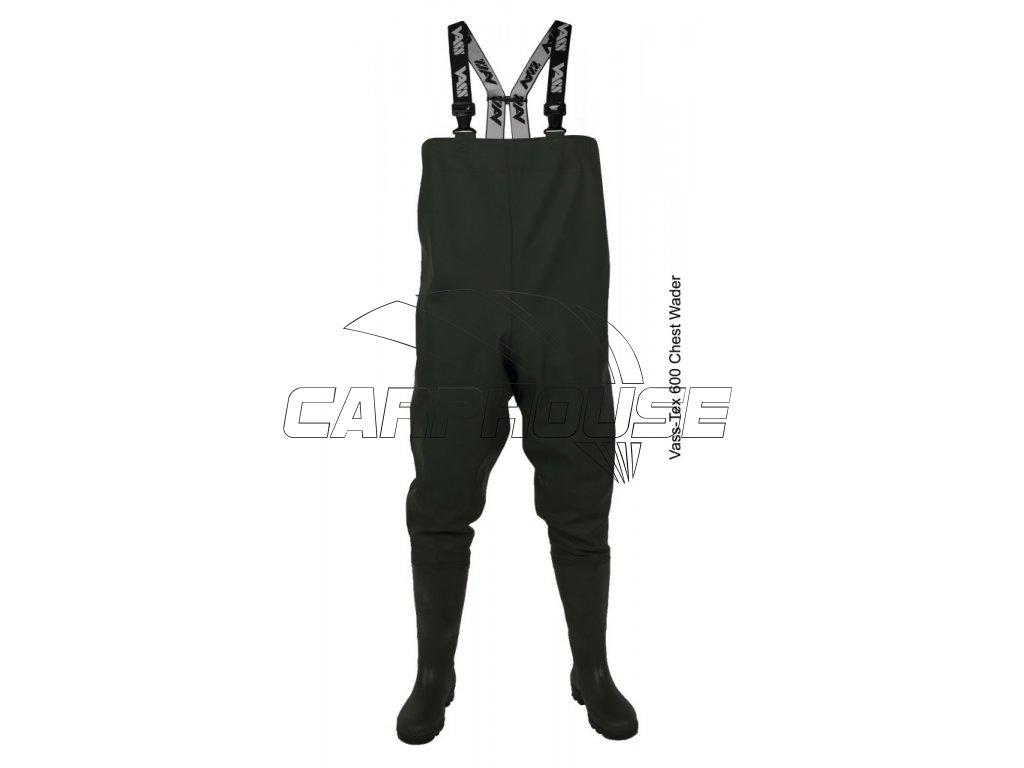 Prsačky (brodící kalhoty) Vass-Tex 600 series (Velikost UK / EUR 10 / 44-45)