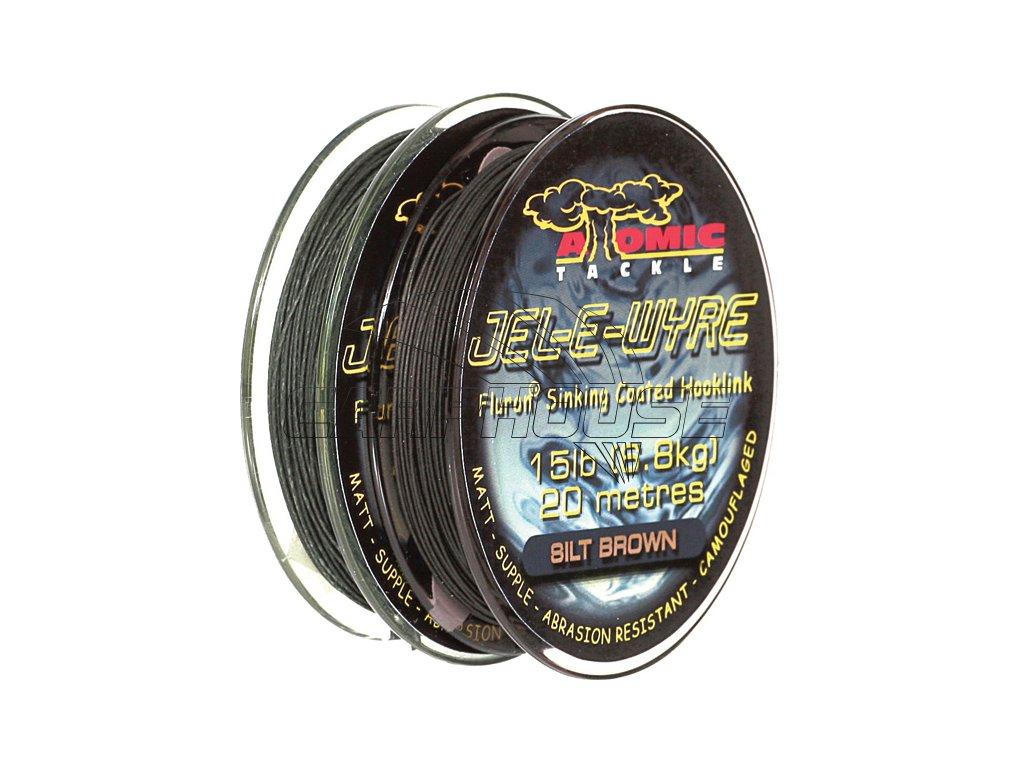 Návazcová nepotahovaná šňůrka JEL-E-WYRE BARE BAK (Barva Hnědá, Průměr 25lb)