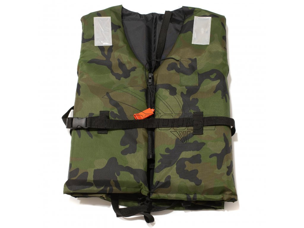 Záchranná vesta plovoucí se zipem Camo