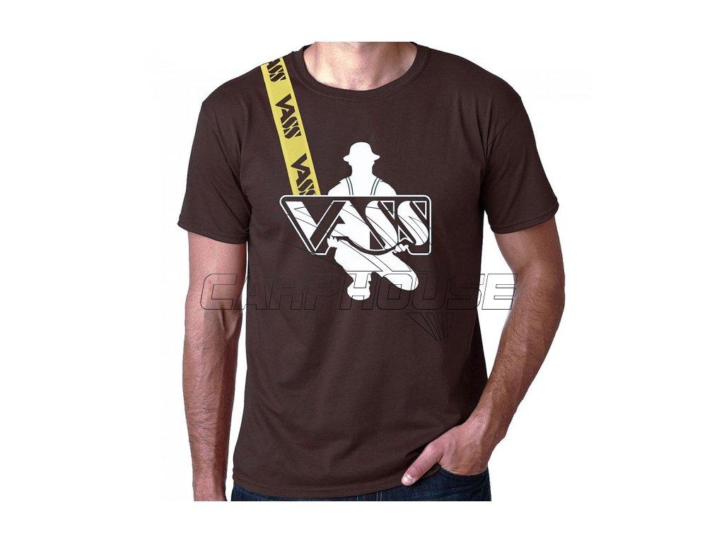Rybářské trička s krátkým rukávem VASS (Barva Černá, Velikost S)