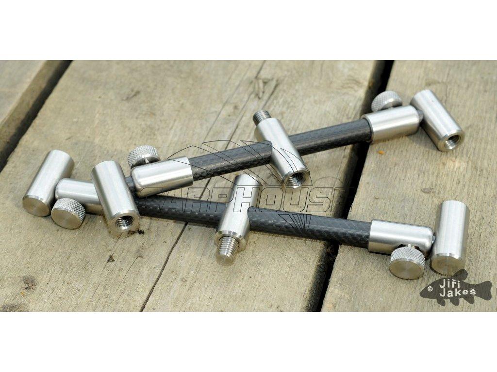 """Carbonové hrazdy na 3 pruty - vytahovací (Délka 7"""" a 8"""")"""
