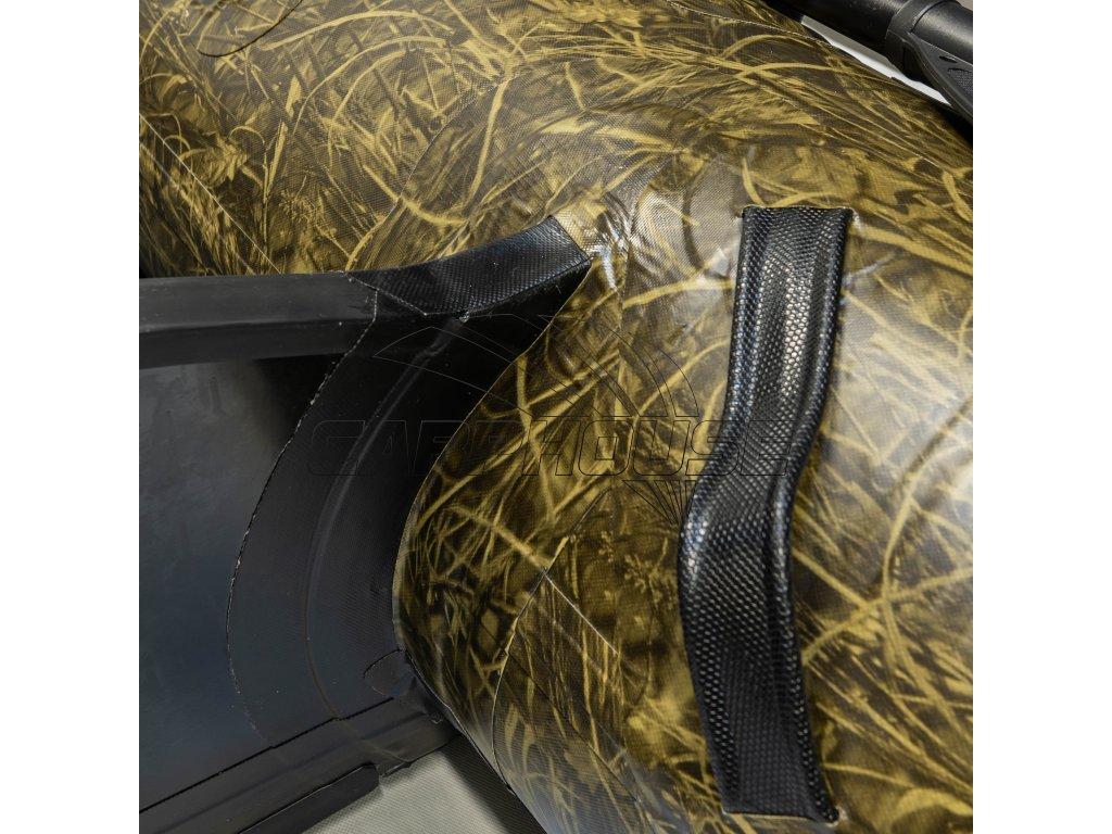 Člun Raptor X 270 Wide Air/Alu BUSH CAMO + polstrovaná taška na sedačku ZDARMA (Podlaha skládací hliníková)