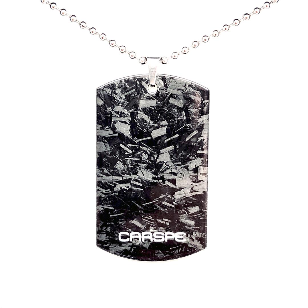 CARSPE Karbonový přívěsek Dog-Tag
