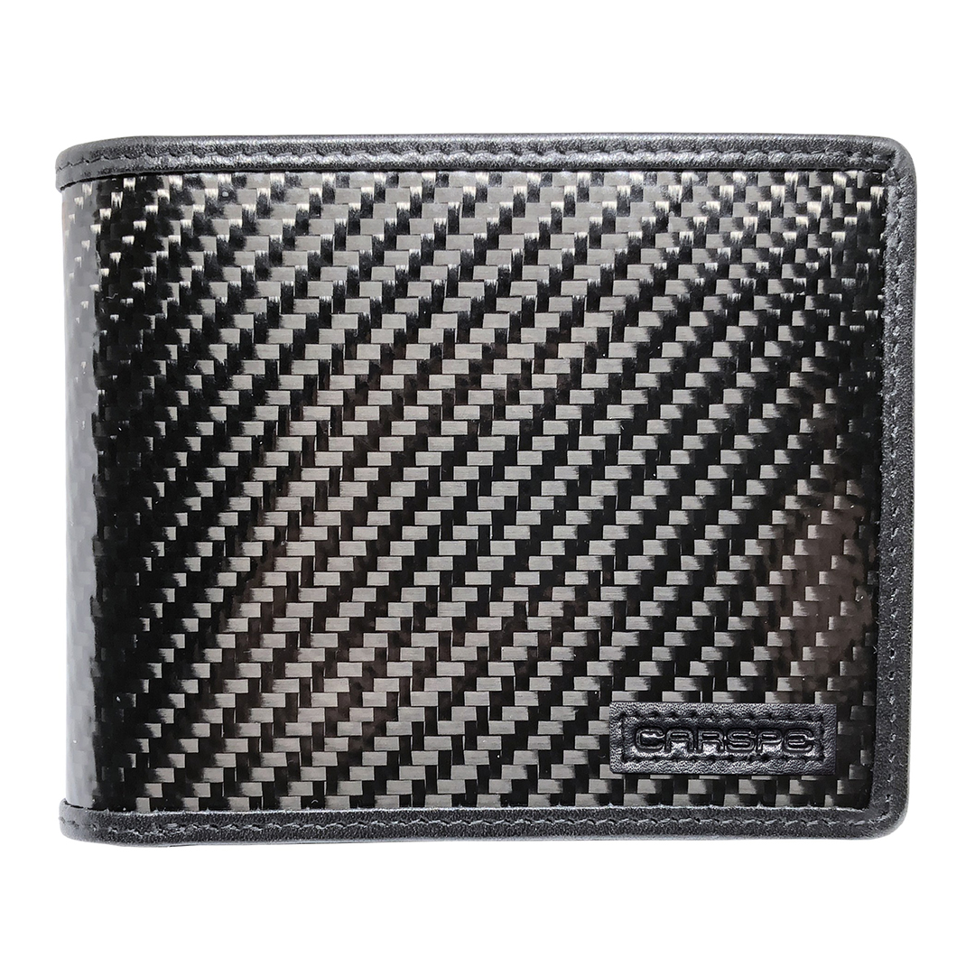 CARSPE RFID Karbonová peněženka Varianta: Bez monogramu