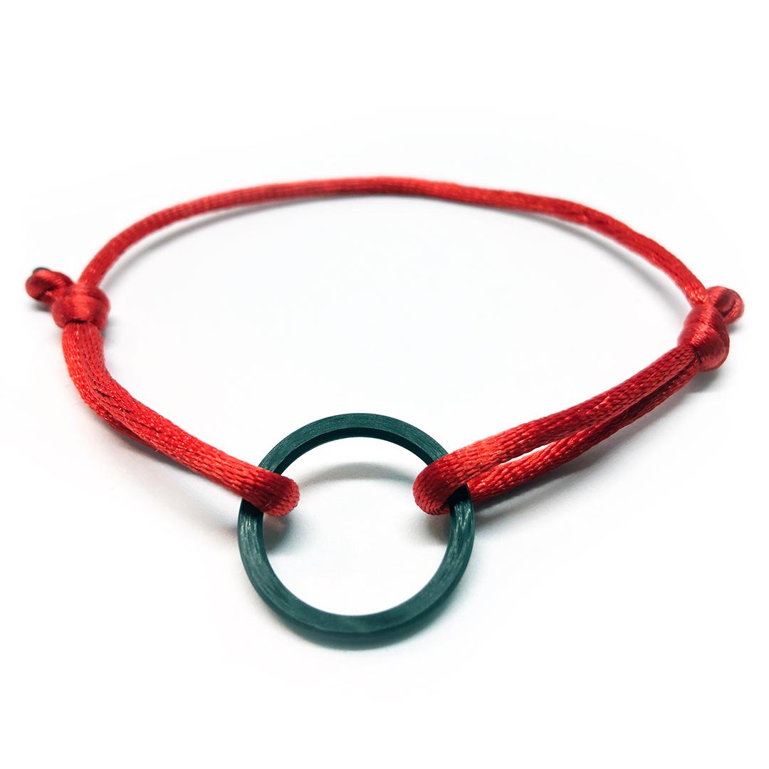 CARSPE Karbonový cord náramek Barva: Černá