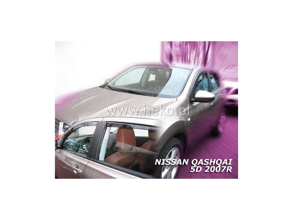 Ofuky oken Heko Nissan Qashqai 5D 2007- přední + zadní