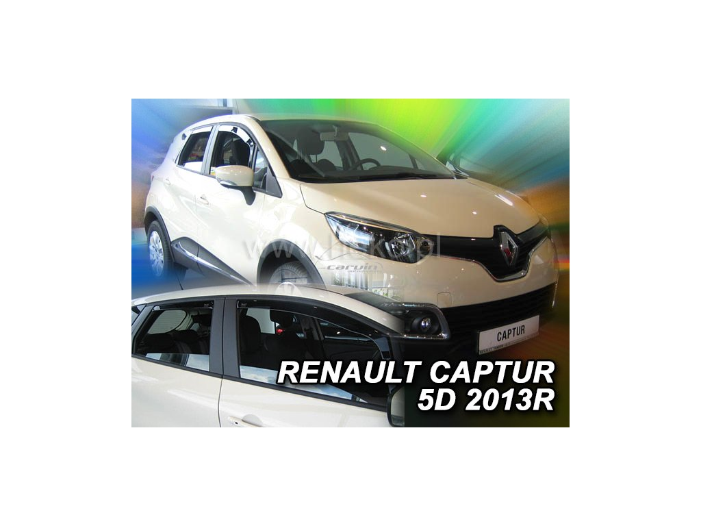 Ofuky oken Heko Renault Captur 5D 2013- přední + zadní