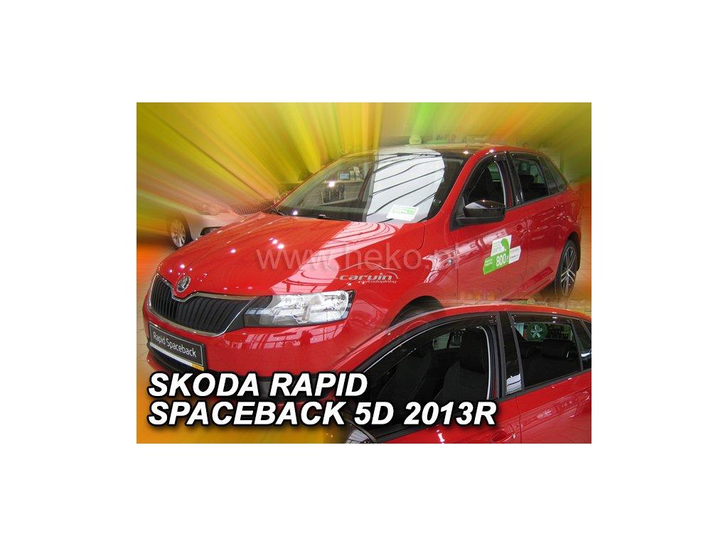 Ofuky oken Heko Škoda Rapid spaceback 2013- přední+zadní