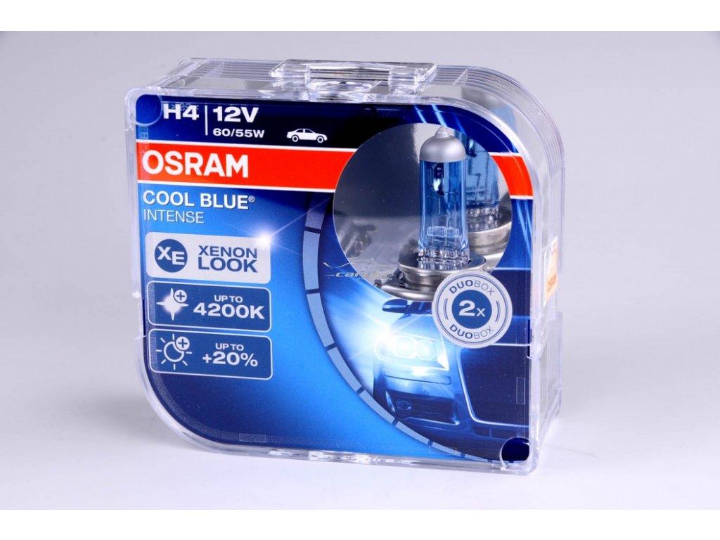 Žárovka H4 12V 60/55W P43t COOL BLUE Intense 2ks box OSRAM