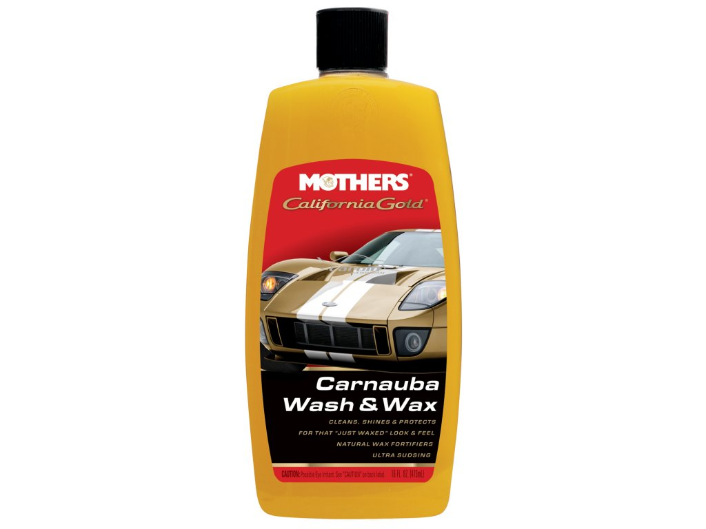 Mothers California Gold Carnauba Wash & Wax luxusní hustý autošampon s karnaubským voskem, 1892 ml