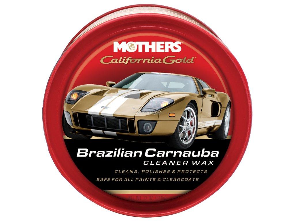 Mothers California Gold Brazilian Carnauba Cleaner Wax čistící vosk s obsahem karnauby (pasta), 340 g