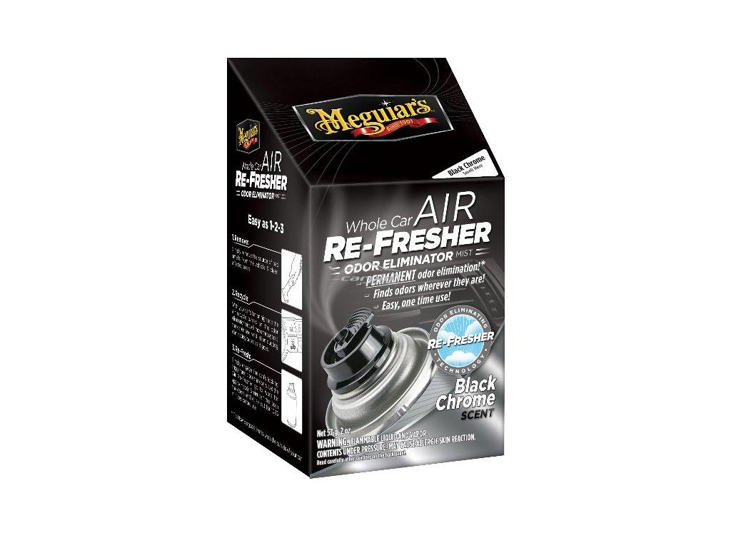 Meguiars Air Re Fresher Odor Eliminator Black Chrome Scent cistic klimatizace pohlcovac pachu osvezovac vzduchu vune Black Chrome 71 g 2019429151359