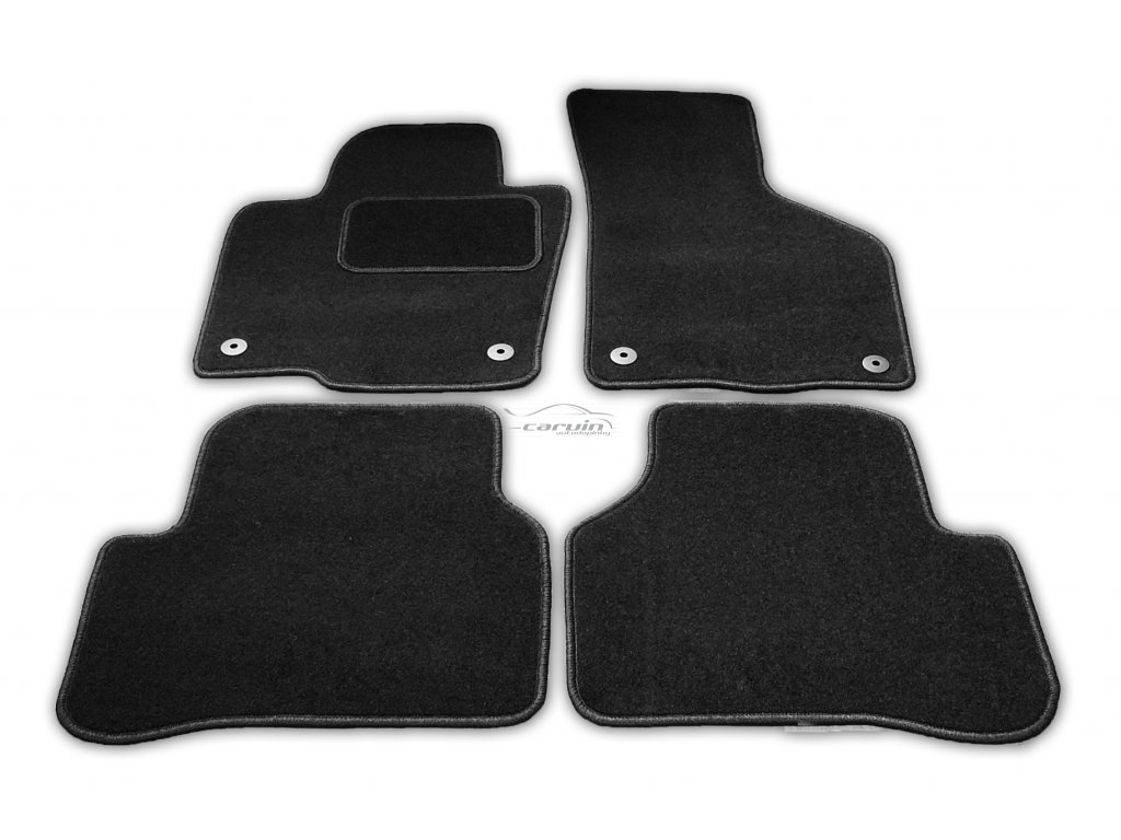 Textilní autokoberce Citroen C5 Aircross 19- (Fixace Oválná fixace řidič + spolujezdec, Obšití Zelený lem)