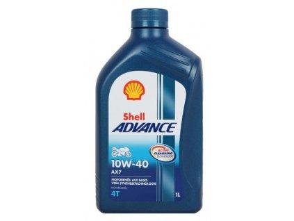 Motorový olej Shell Advance 4T AX7 10W-40 1L