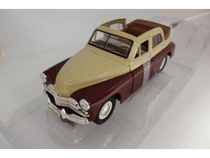 Model auta GAZ m20 Pobeda hnědá 1:24 Motormax