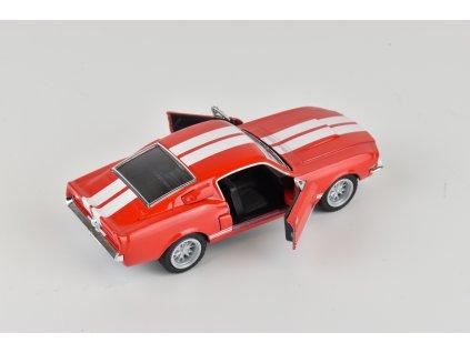 Model auta Mustang Shelby GT 500 červený 1:38