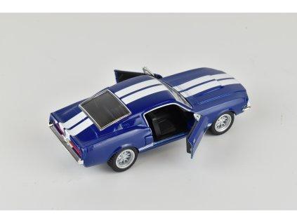 Model auta Mustang Shelby GT 500 modrý 1:38