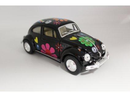 Model auta Volkswagen Brouk 1967 Hippies černý 1:32