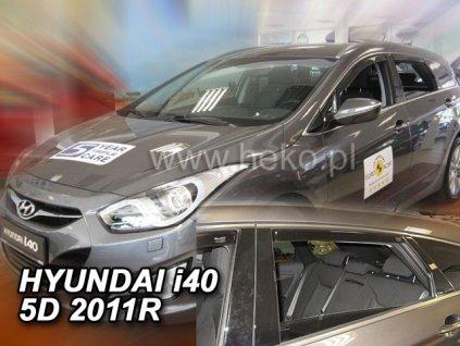 Ofuky oken Heko Hyundai i40 5D 2011- přední + zadní combi