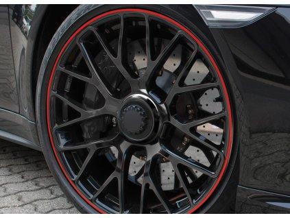 Samolepící linka na obvod kola Foliatec - červená