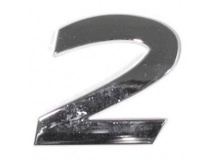 Znak 2 samolepící PLASTIC