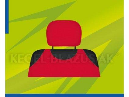 Potah opěrky hlavy červený