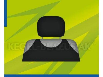 Potah opěrky hlavy černý