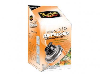 Meguiars Air Re-Fresher Odor Eliminator - Citrus Grove Scent - desinfekce klimatizace + pohlcovač pachů + osvěžovač vzduchu, vůně citrusů, 71 g