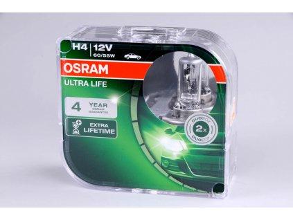 Žárovka H4 12V 60/55W P43t ULTRA LIFE 2ks box OSRAM