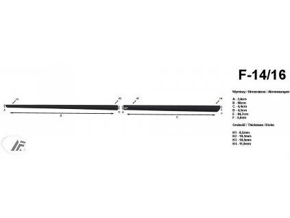 34397 bocni listy na dvere rider citroen c4 picasso 2013 f14 16
