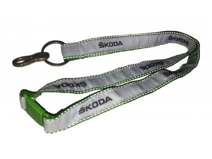 Šňůra na krk Škoda Original - zelená
