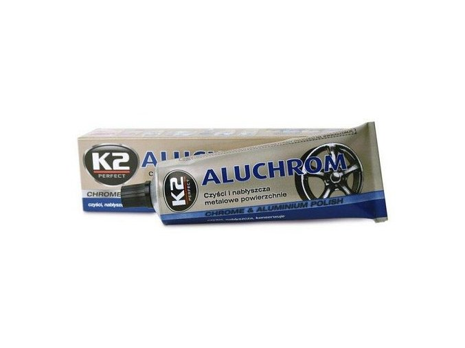 K2 ALUCHROM 120 g - pasta na čištění a leštění kovových povrchů