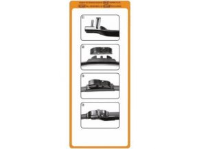Adaptér na stěrač Alca, Heyner SL Sada 2ks oranžový