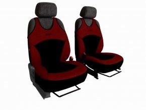 Autopotahy Active Sport Alcantara, sada pro dvě sedadla, vínové