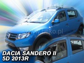 Ofuky oken Dacia Sandero Stepway II 5D 2012- přední + zadní