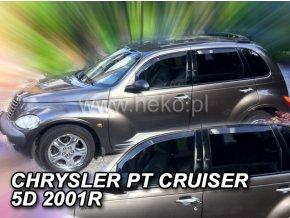 Ofuky oken Heko Chrysler PT Cruiser 4D 2002- přední + zadní