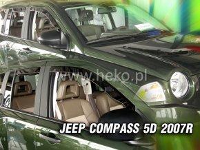 Ofuky oken Jeep Compass 5D 2007- přední + zadní