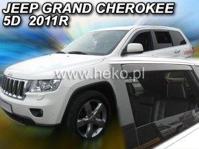 Ofuky oken Jeep Grand Cherokee 5D 2011- přední + zadní