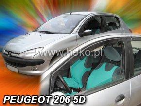 Ofuky oken Heko Peugeot 206 5D 1998- přední