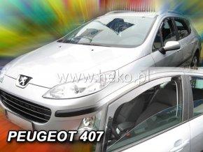 Ofuky oken Heko Peugeot 407 4D přední 2004-