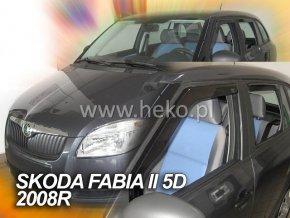 Ofuky oken Škoda Fabia II 4D 2007- přední + zadní combi