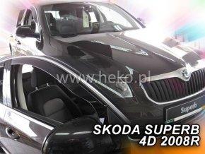 Ofuky oken Škoda Superb 4D 2008- přední
