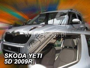 Ofuky oken Škoda Yeti 5D 2009- přední