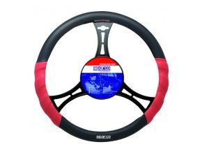 Potah volantu Sparco černo červený