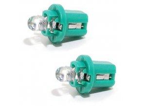 Žárovka 1LED 12V B8,5d zelená 2ks